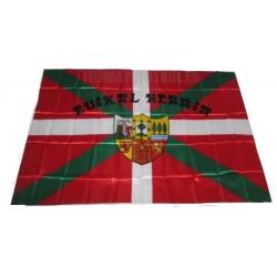 Bandera Pais Vasco IKURRIÑA con escudo