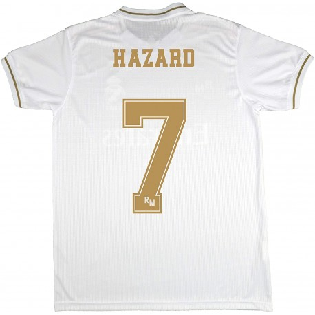 Camiseta 1º Jr. oficial HAZARD 2019/20 Real Madrid CF RM