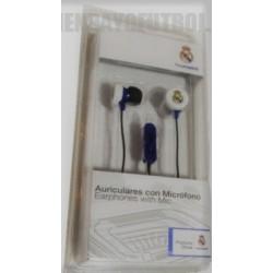 Auriculares oficiales de botón Real Madrid CF