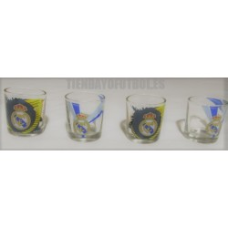 Chupitos cristal oficial Real Madrid CF PACK 4