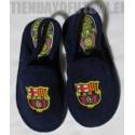 Zapatillas casa Jr. oficiales azul FC Barcelona