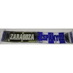 Bufanda del Real Zaragoza Vs Espanyol