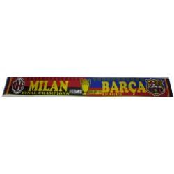 Bufanda / bufandin doble Final champions Milan- Barça