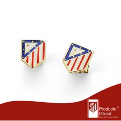 Pendiente Oro 9 K Atlético de Madrid