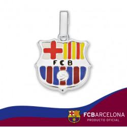 Colgante plata F.C. Barcelona