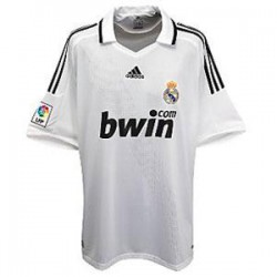 Camiseta 1ª Blanco con cuello Real Madrid CF Adidas