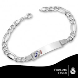 Pulsera-esclava plata Real Madrid CF