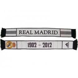 Bufanda Doble Real Madrid Blanca con fecha fundación Adidas