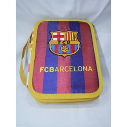 Estuche /plumier con material Escolar FC Barcelona