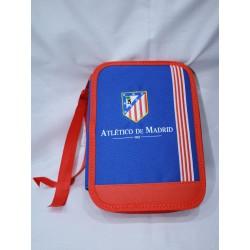 Estuche /plumier con material Escolar oficial Atlético de Madrid