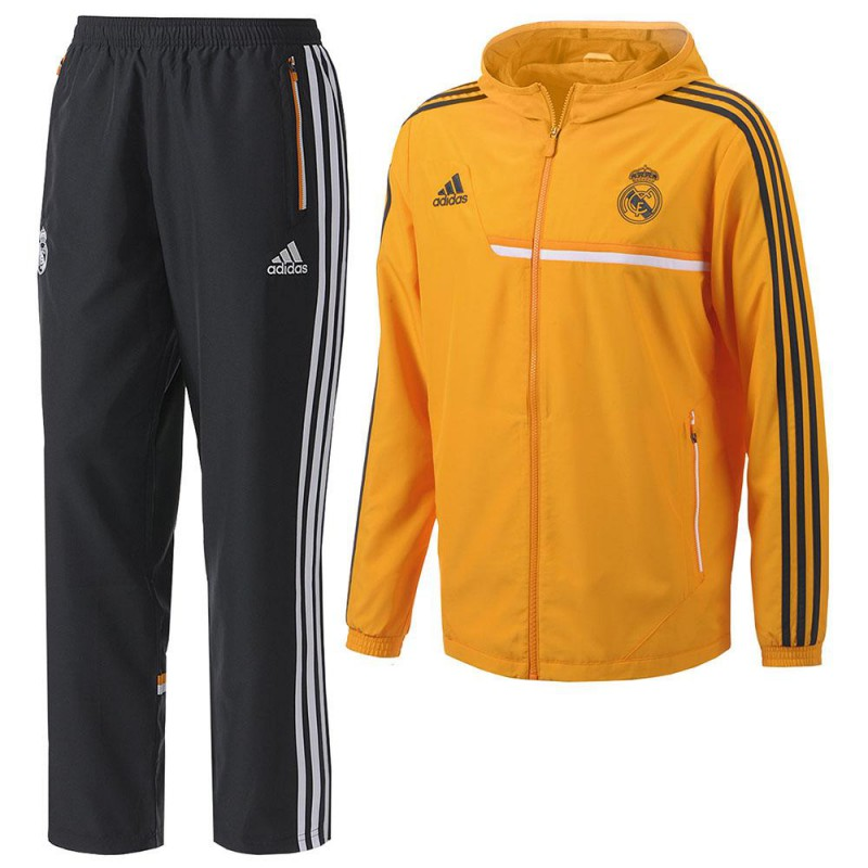 Línea de metal Orbita calentar  Chándal Real Madrid Naranja | Adidas chándal Real Naranja | Naranja chándal  Madrid CF