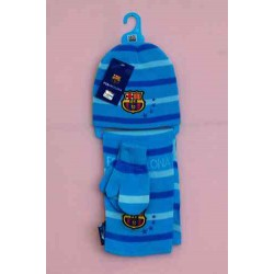 conjunto bufanda, gorro manopla FC Barcelona