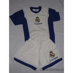 Pijama oficial verano Junior Real Madrid CF blanco con azul