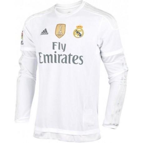 Camiseta 1ª Manga larga 2015-16 Real Madrid Cf Adidas