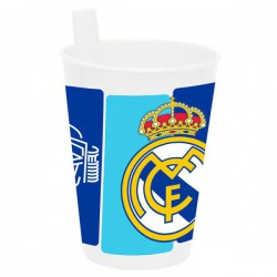 vaso con paja para bebe real Madrid