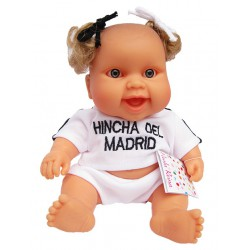 Muñeca bebé del Real Madrid