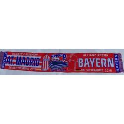 Bufanda del Atlético de Madrid-Bayern Munchen