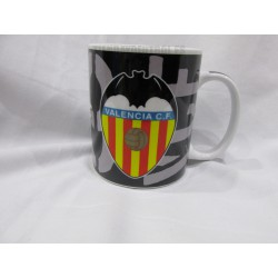 Taza Mug Valencia C.F. negra