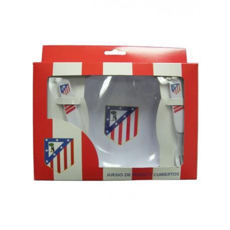 Conjunto Vajilla infantil 3 piezas Atletico Madrid