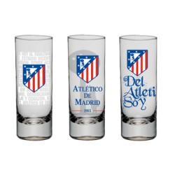 Chupito cristal oficial Atlético de Madrid UNIDAD
