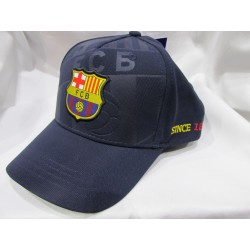 Gorra soccer FC Barcelona marino