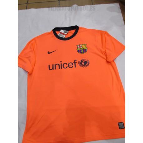 Camiseta 2ª FC Barcelona Economica Salmón claro Nike