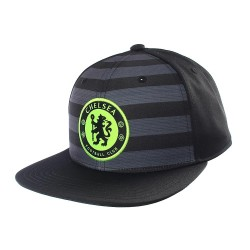 Gorra plana negra del Chelsea Adidas