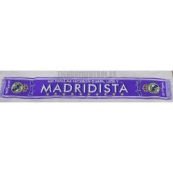 "Bufanda ""mis papas"" guapa Madridista morada RM"