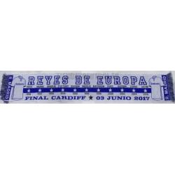 """Bufanda final de Champións Real Madrid - Juventus""""REYES de EUROPA"""""""