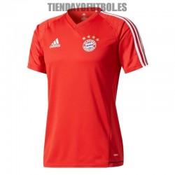 Camiseta Jr. Bayern Munchen 2017/18 Entrena. roja Adidas