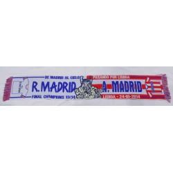 Bufanda final de Champión Real Madrid - Atlético de Madrid