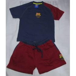 Pijama FC Barcelona niño-a corto oficial