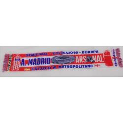 Bufanda semifinal Atlético de Madrid-Arsenal