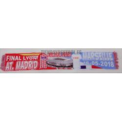 Bufanda final Atlético de Madrid-Marsella