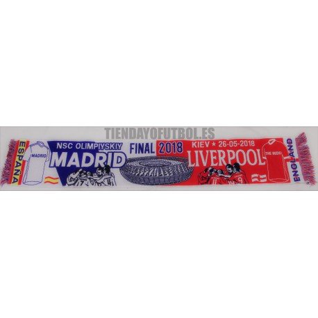 Bufanda final de Champións Real Madrid - Liverpool